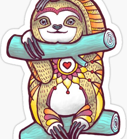 Mandala Sloth Sticker
