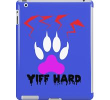 'Yiff Hard' Lighting paw decal iPad Case/Skin