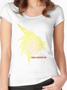 Final Fantasy VII (7) - Cloud Strife - Typography Women's Fitted Scoop T-Shirt
