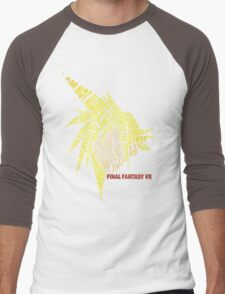Final Fantasy VII (7) - Cloud Strife - Typography Men's Baseball ¾ T-Shirt