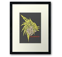 Final Fantasy VII (7) - Cloud Strife - Typography Framed Print