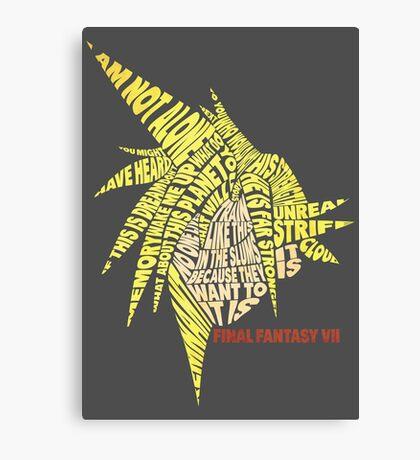 Final Fantasy VII (7) - Cloud Strife - Typography Canvas Print