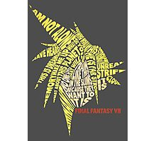 Final Fantasy VII (7) - Cloud Strife - Typography Photographic Print