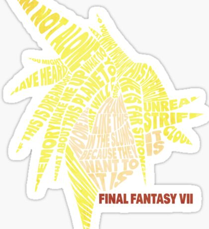 Final Fantasy VII (7) - Cloud Strife - Typography Sticker