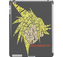 Final Fantasy VII (7) - Cloud Strife - Typography iPad Case/Skin