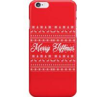'Merry Yiffmas' Sweater pattern design iPhone Case/Skin