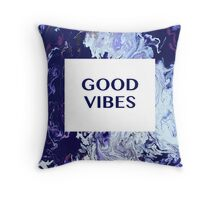 Good Vibes Abstract  Throw Pillow