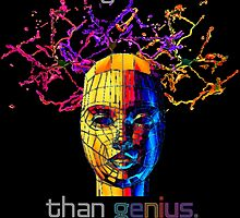 """Nothing is sexier than genius.""© by Lisa Clark - Thinker Collection STEM Art and MORE"