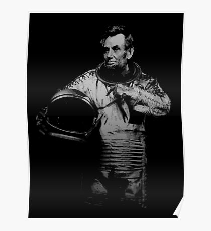 Astronaut Abe Poster