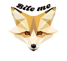 'Bite me' decal by Furrnum