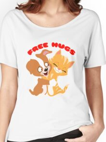 'Free hugs' decal Women's Relaxed Fit T-Shirt