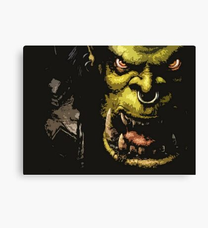 Warcraft Orc Canvas Print