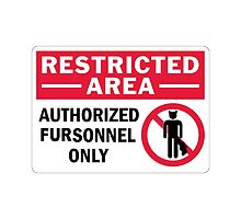 'Authorised fursonal only' decal by Furrnum