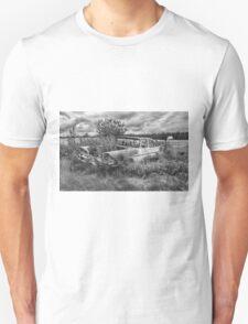Prairie Weeds - Black and White T-Shirt