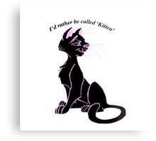 'I'd rather be called 'kitten'' image decal Metal Print