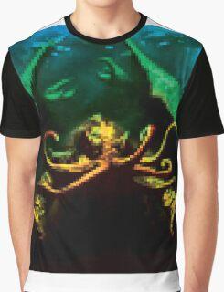 Pixelated Cthulhu Mythos Graphic T-Shirt