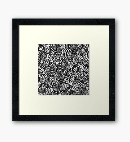 Yarn Patchwork Framed Print