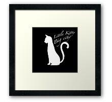'Little kitty, big city' vector Framed Print
