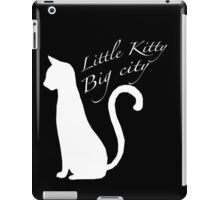 'Little kitty, big city' vector iPad Case/Skin
