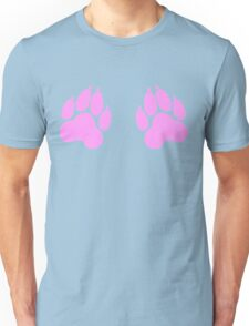 paw print chest decal Unisex T-Shirt