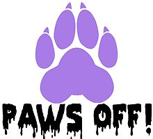 'Paws off' decal by Furrnum