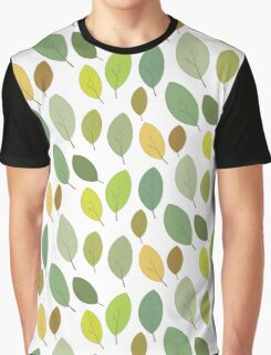 green leaves autumn Graphic T-Shirt