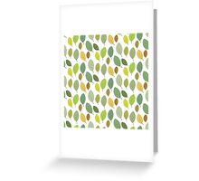 green leaves autumn Greeting Card
