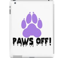 'Paws off' decal iPad Case/Skin
