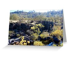 Iron Canyon - Big Chico creek Greeting Card
