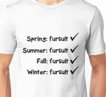 'Seasonal fursuit' text decal Unisex T-Shirt