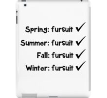 'Seasonal fursuit' text decal iPad Case/Skin