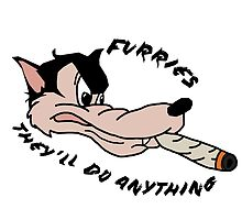 'Furries; they'll do anything' image decal by Furrnum