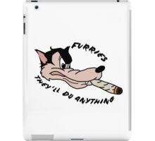 'Furries; they'll do anything' image decal iPad Case/Skin