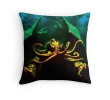 Pixelated Cthulhu Mythos Throw Pillow