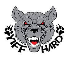 'Yiff hard' decal by Furrnum
