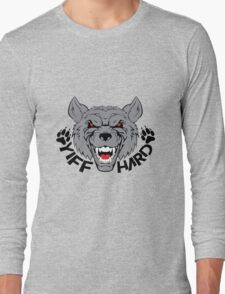 'Yiff hard' decal Long Sleeve T-Shirt