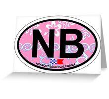 Newport Beach - California. Greeting Card