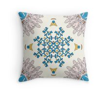 Sunny day Mandala Throw Pillow