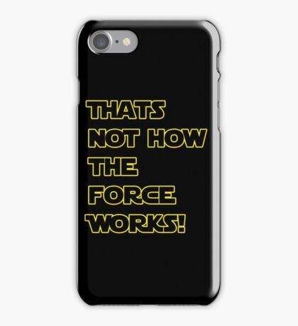 Han Solo Quote, The Force Awakens  iPhone Case/Skin