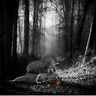 The Right Path - Squirrel in the Woods by Doreen Erhardt