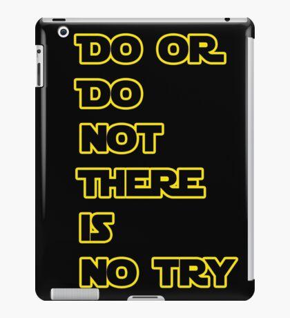 Yoda Quote Star Wars  iPad Case/Skin