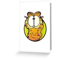Wondering Garfield Greeting Card
