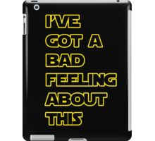 Star Wars Quote  iPad Case/Skin