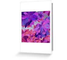 purple garden Greeting Card