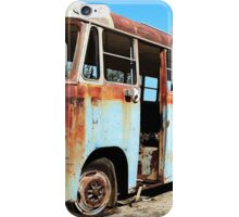 The Old Blue Bus iPhone Case/Skin