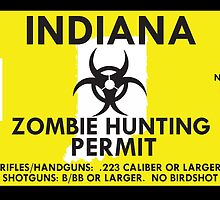 Zombie Hunting Permit - INDIANA by SMALLBRUSHES