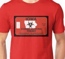 Zombie Hunting Permit - IOWA Unisex T-Shirt