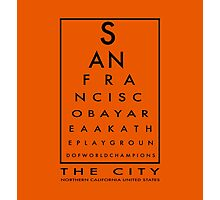 SAN FRANCISCO - THE CITY - EYE CHART Photographic Print