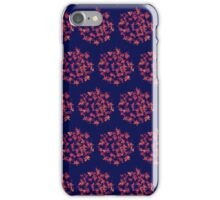 Pom-pom Fire Flowers on Deep Indigo iPhone Case/Skin