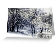 Winter Figure Skating Greeting Card